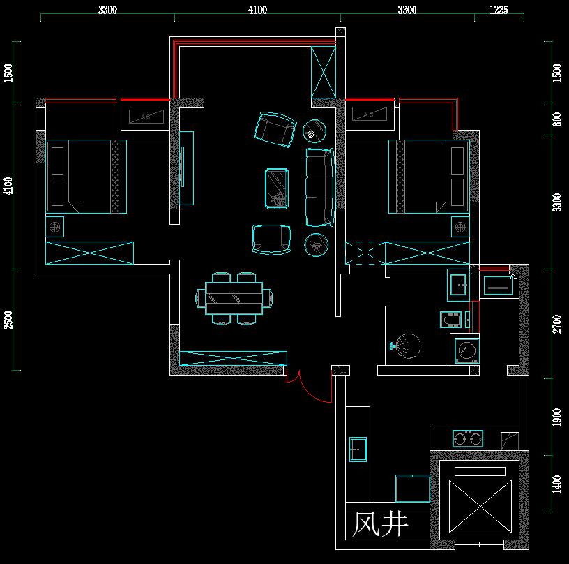 这个户型两室改三室怎么改比较好